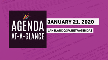agenda at a glance intro slide - january 21, 2020