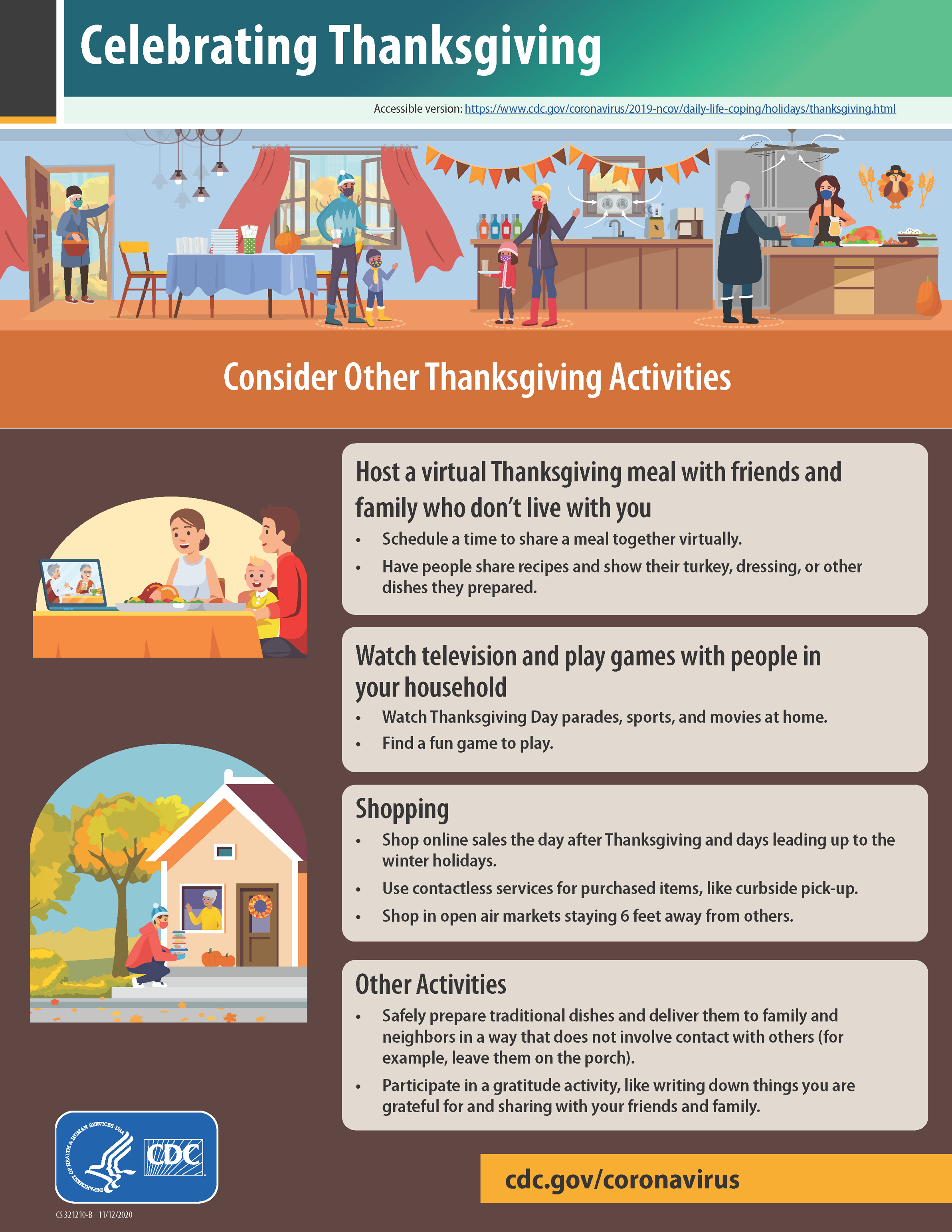 CDC: Other Thanksgiving Activities (Accessible Link below this image)