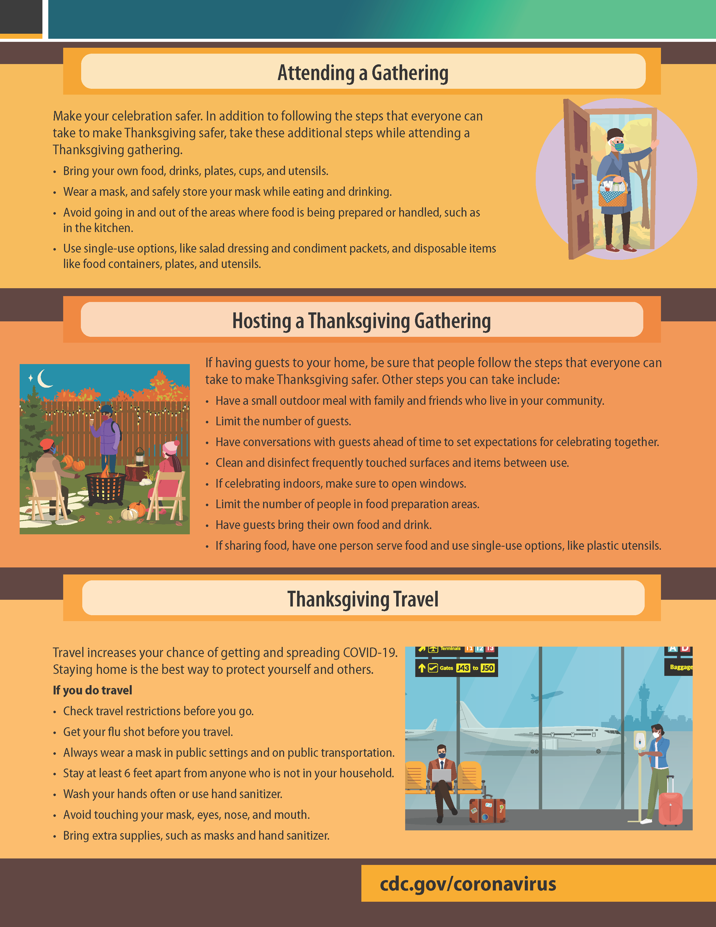 CDC Making Thanksgiving Safer 2 (Accessible Link below this image)