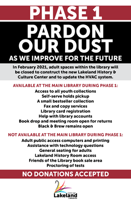 Pardon Our Dust Phase 1 - Accessible Version on Library Page (Linked below)