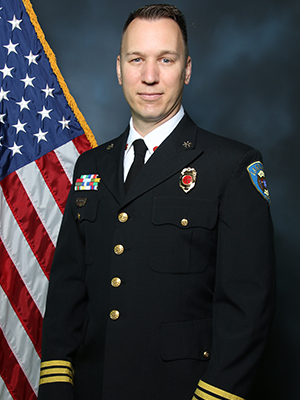 A picture of division Chief Shane Reynolds