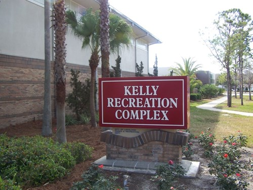 A picture of Kelley Recreation Complex signage