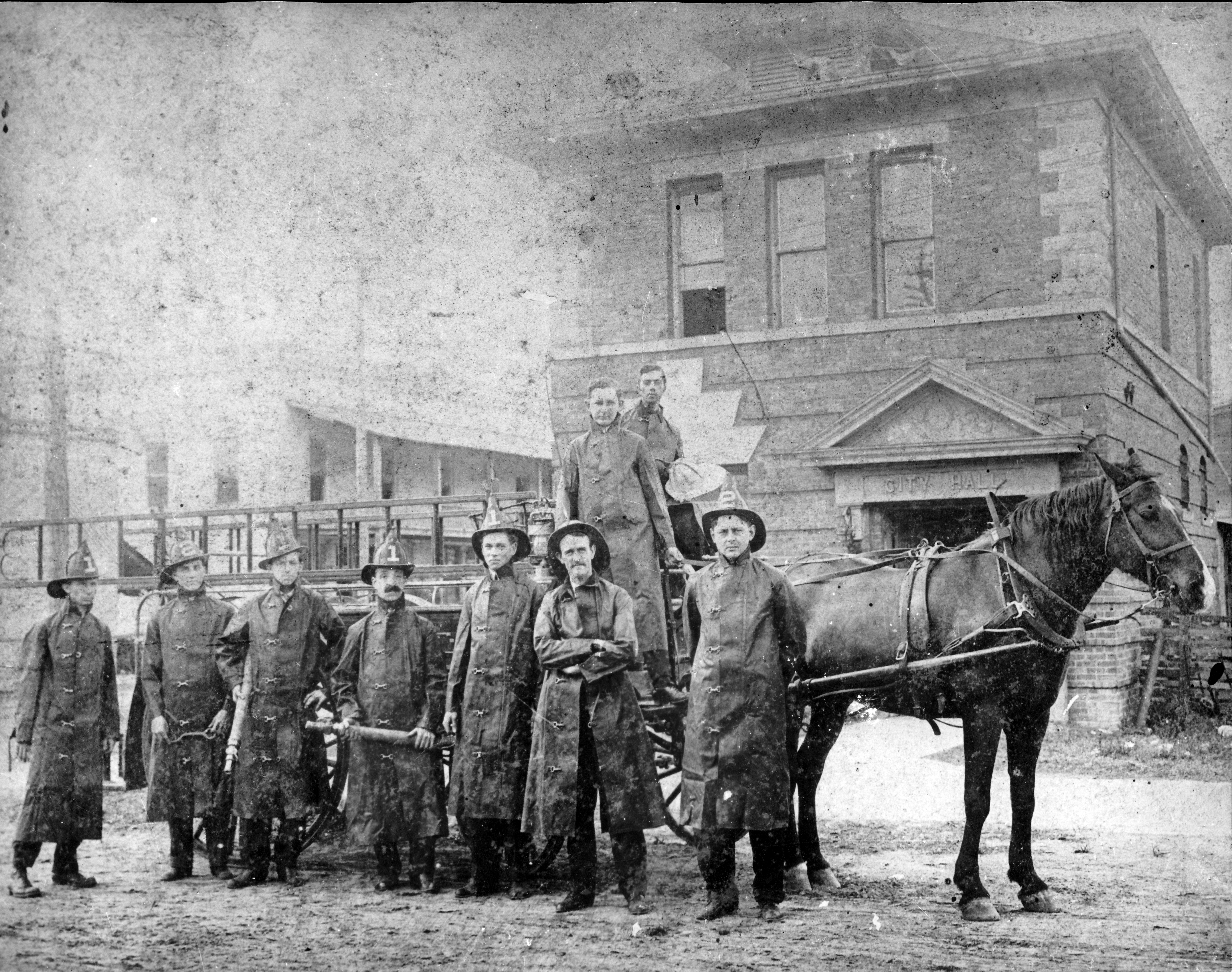 A picture of volunteer Lakeland firefighters, circa 1903