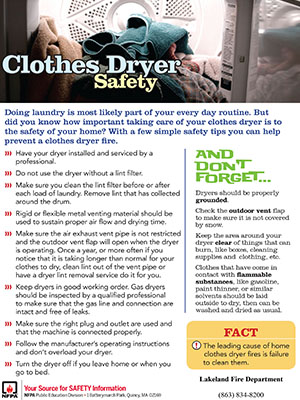 A picture of Clothes Dryer Safety