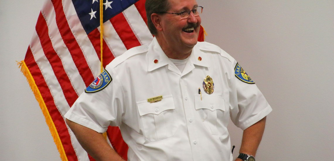 A photo of Battalion Chief Jeff Wharton