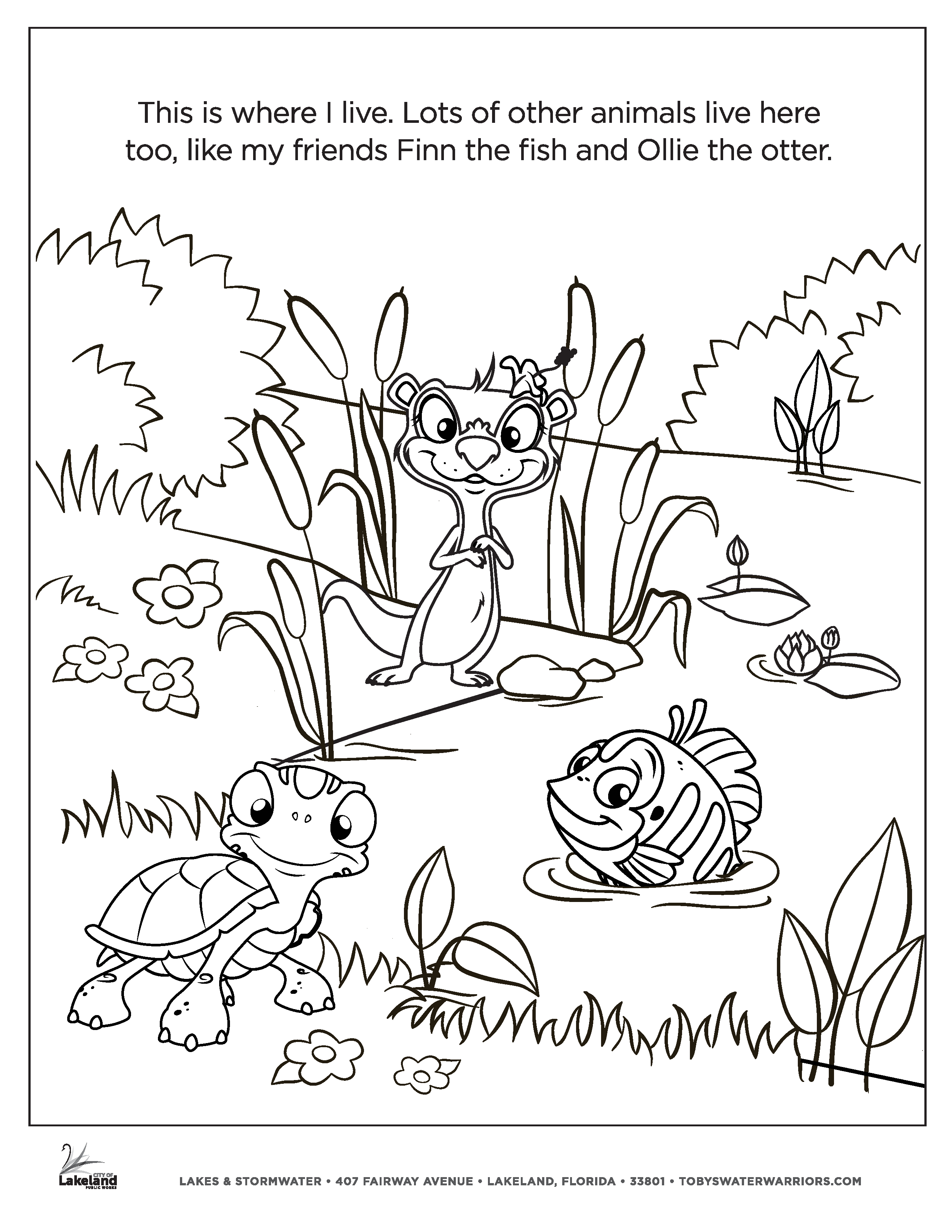 Toby's Water Warriors Coloring Page 3