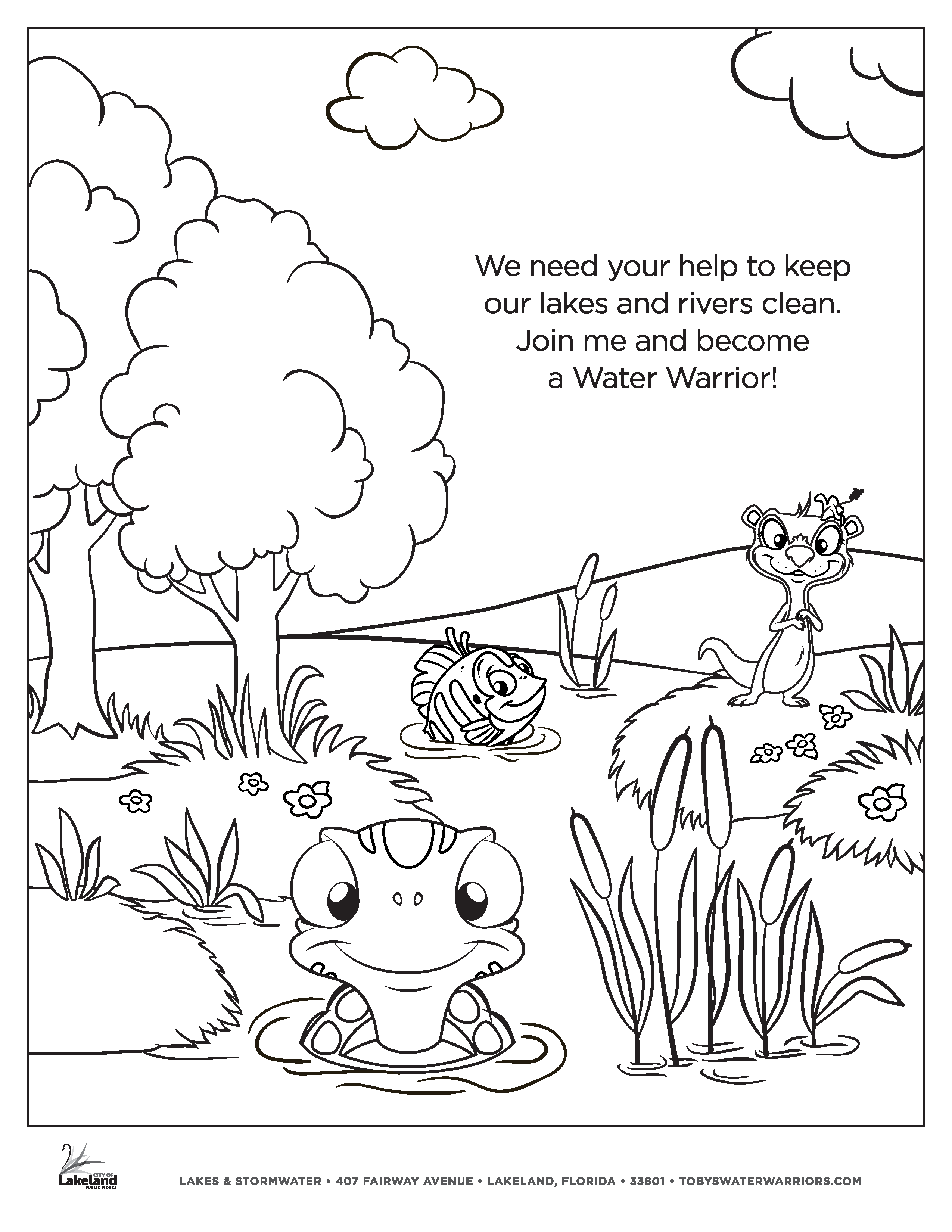 Toby's Water Warriors Coloring Page 5