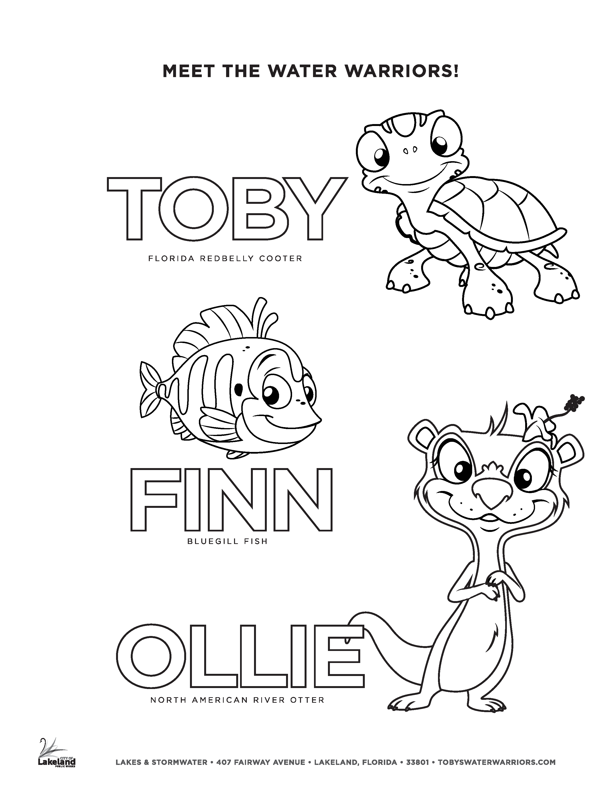 Toby's Water Warriors Coloring Page 6