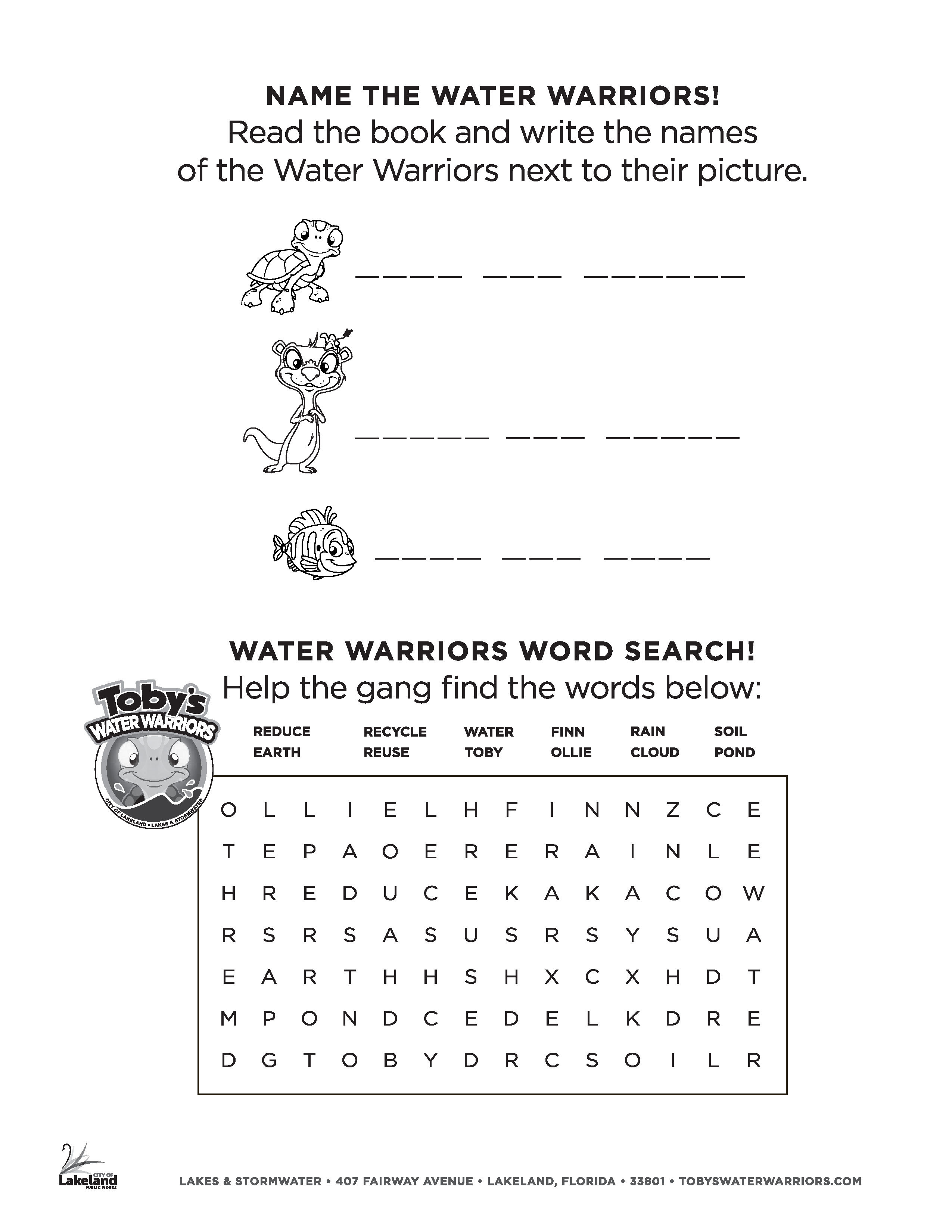 Toby's Water Warriors Coloring Page 7
