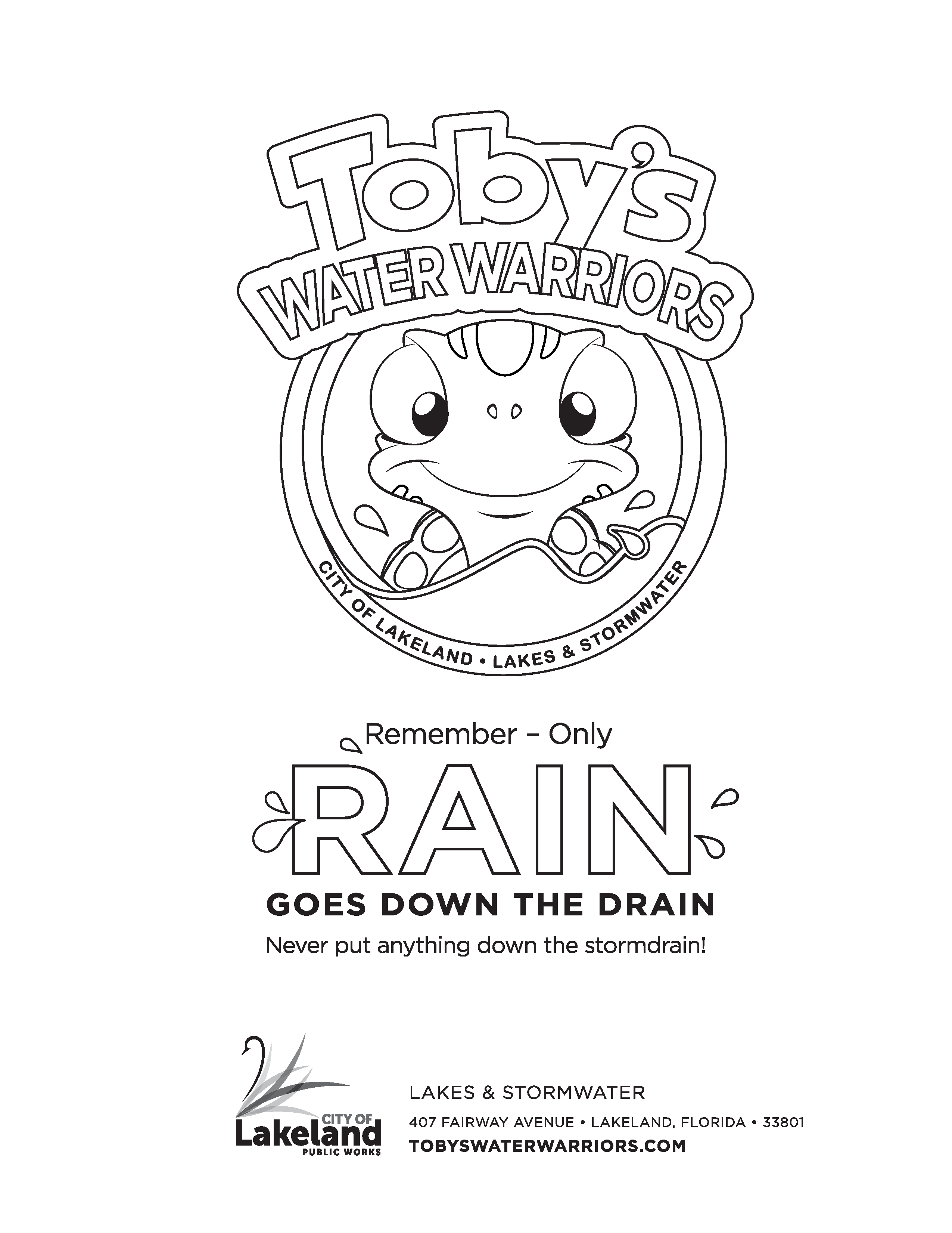 Toby's Water Warriors Coloring Page 8