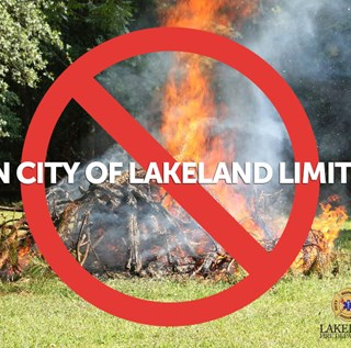 No Burning within the City Limits of Lakeland Graphic