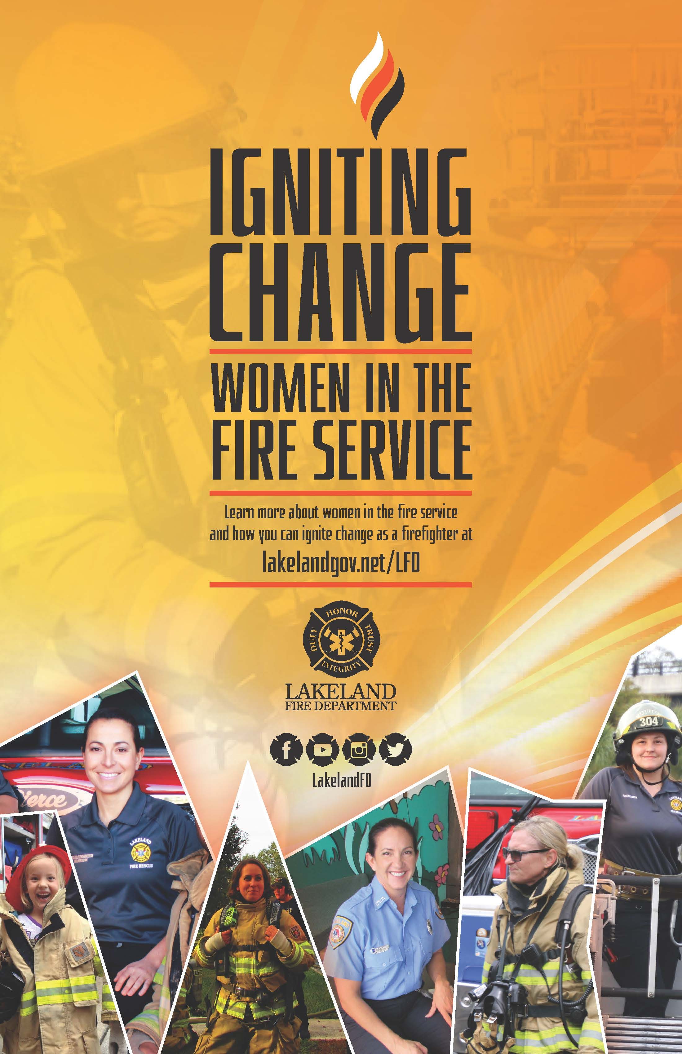 Poster for Igniting Change: Women in the Fire Service