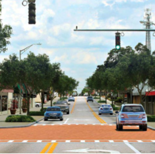 south florida avenue intersection road diet artist rendering